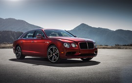 Preview wallpaper Bentley Flying Spur red supercar