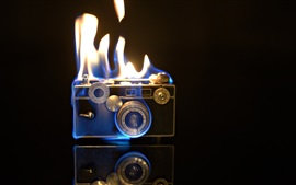 Preview wallpaper Camera flames, fire, creative pictures