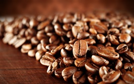 Preview wallpaper Coffee beans macro photography