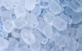 Cold ice cubes