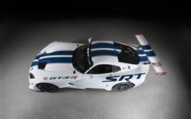 Preview wallpaper Dodge SRT Viper GT3-R race car top view