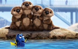 Preview wallpaper Finding Dory, cute beavers