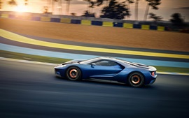 Preview wallpaper Ford GT 2017 supercar high speed
