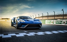 Preview wallpaper Ford GT II blue supercar front view
