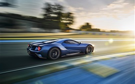 Preview wallpaper Ford GT supercar in high speed