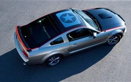 Ford Mustang GT суперкар вид сверху