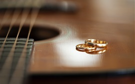 Preview wallpaper Guitar and rings