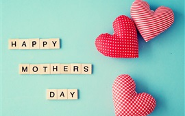 Preview wallpaper Happy Mothers Day, love hearts