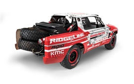 Preview wallpaper Honda Ridgeline Baja Race Truck back view