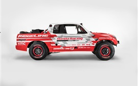 Preview wallpaper Honda Ridgeline Baja Race Truck side view