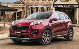 Preview wallpaper Kia Sportage red color car