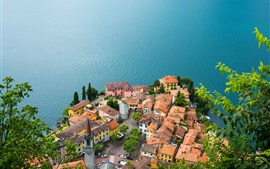 Preview wallpaper Lake Como, Varenna, Italy, houses