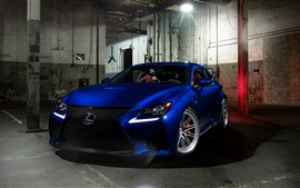 Preview wallpaper Lexus RCF blue car front view