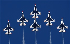 Preview wallpaper Many aircraft, fighter flight, air show