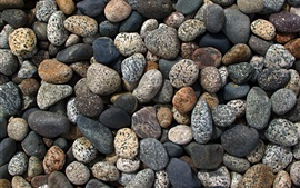 Many stones, pebbles