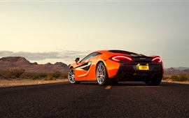 Preview wallpaper McLaren 570S orange supercar back view