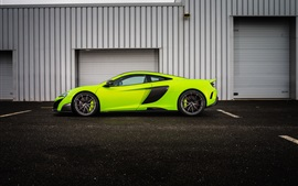 McLaren 675LT green supercar side view