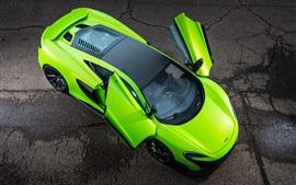 Aperçu fond d'écran McLaren 675LT ailes supercar verte