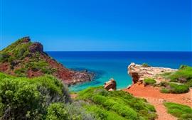 Minorque, море, побережье, острова, Испания