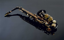 Preview wallpaper Musical instruments, saxophone