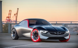 Opel GT vista frontal conceito supercarro