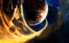 Preview wallpaper Planets, space, flame
