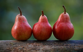 Preview wallpaper Red pears, fruit close-up