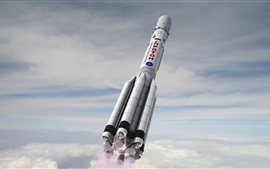 Preview wallpaper Russian rocket flying