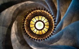 candelabro espiral, imagem abstrata