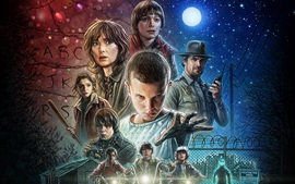 Preview wallpaper Stranger Things TV series 2016