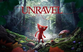 Preview wallpaper Unravel, video game, wool