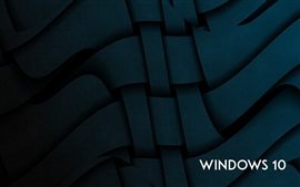 Windows 10 system, abstract curves background