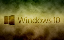 Windows 10 system logo, white clouds background
