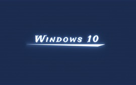 Preview wallpaper Windows 10 white light, blue background