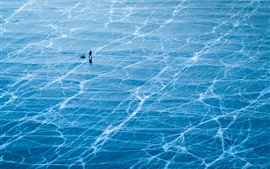 Preview wallpaper lake Baikal, ice surface, blue, Russia