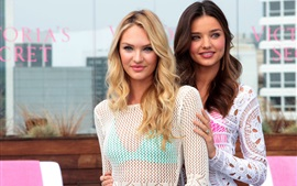 Preview wallpaper Candice Swanepoel and Miranda Kerr