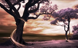 Preview wallpaper Creative pictures, trees, power