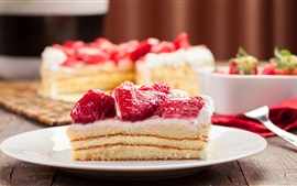 Preview wallpaper Delicious dessert, sweet, cream cake, strawberry