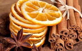 Preview wallpaper Dry food, lemons slices, spices, cinnamon