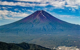 Preview wallpaper Fuji mountain, volcano, Japan nature landscape