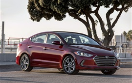 Preview wallpaper Hyundai Elantra red car