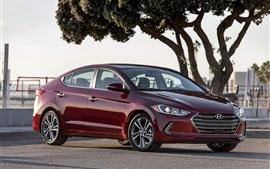 Hyundai Elantra red car