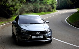 Preview wallpaper Lada Vesta, silver sedan