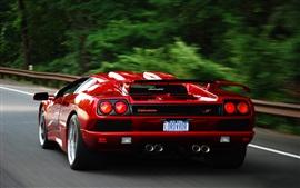 Preview wallpaper Lamborghini Diablo red supercar rear view