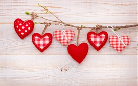 Preview wallpaper Love hearts, twig, romantic