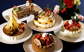 Preview wallpaper Many kinds of cakes for Christmas