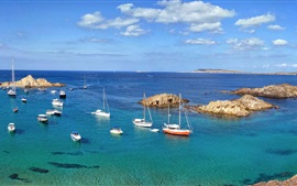 Preview wallpaper Minorque, sea, island, boats, Spain