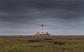 Preview wallpaper North Sea, Westerhever, lighthouse, Germany