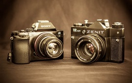 Sony A7 and Zenit 12 XP digital cameras