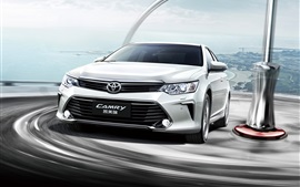 Preview wallpaper Toyota Camry 10th Anniversary car front view and speed